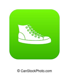 Sneakers icon digital green