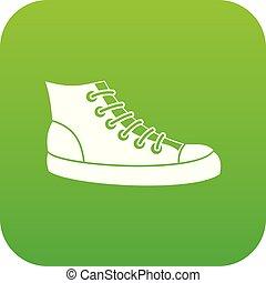 Sneakers icon digital green
