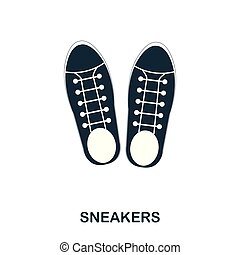 Sneakers icon. Flat style icon design. UI. Illustration of sneakers icon. Pictogram isolated on white. Ready to use in web design, apps, software, print.