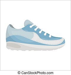 Sneakers icon in cartoon style isolated on white background. Shoes symbol stock vector illustration.