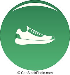 Sneakers icon vector green