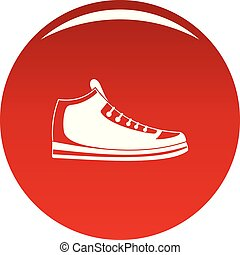 Sneakers icon vector red