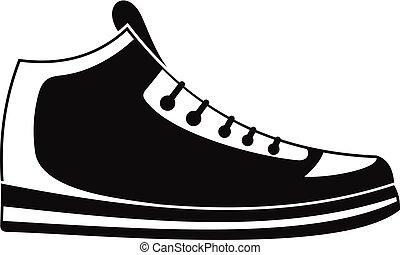 Sneakers icon vector simple