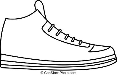 Sneakers icon vector thin line