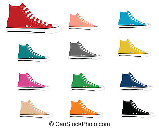 Sneakers in different colors