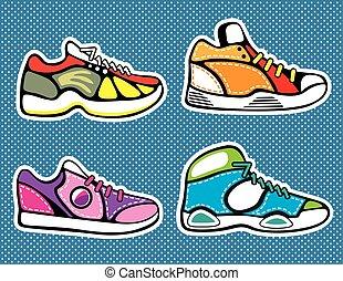 Sneakers pop art