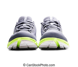 Sneakers. - Unbranded sneakers isolated on a white ...