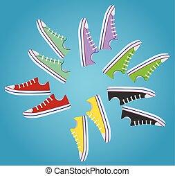 Sneakers. vector