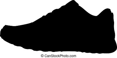 Sneakers vector on white background