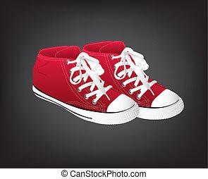 sneakers, vermelho