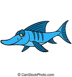 Sneaky Fish - A cartoon illustration of a sneaky tropical ...