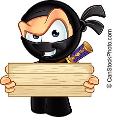 Sneaky Ninja Character - An illustration of a sneaky looking...
