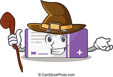 sneaky witch medicine box cartoon character design. Vector ...