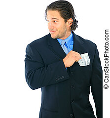 Sneaky Young Caucasian Businessman - sneaky young caucasian...