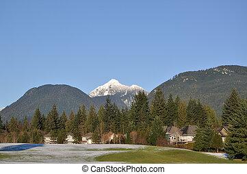 sneeuw, berg, natuur, aanzicht