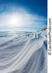 sneeuw, duinen