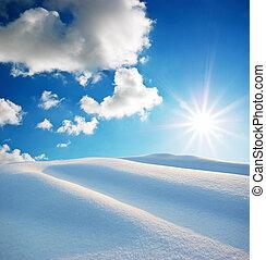 sneeuw, heuvels