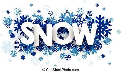 sneeuw, meldingsbord