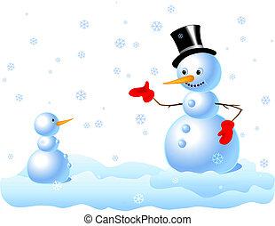 sneeuwpop, baby-snowman, &