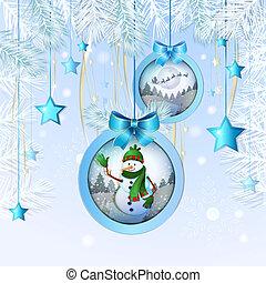 sneeuwpop, bal, kerstmis