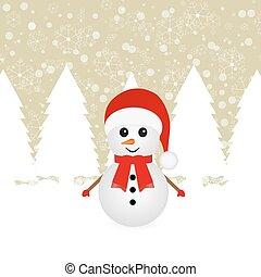 sneeuwpop, bos