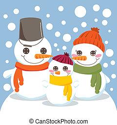 sneeuwpop, gezin