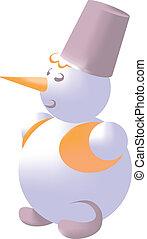 sneeuwpop, kleur, 02