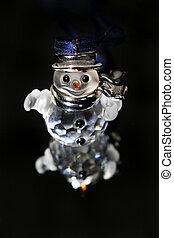 sneeuwpop, kristal, kerstmis