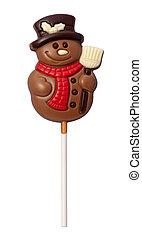 sneeuwpop, steegjes, af)knippen, vrijstaand, chocolade