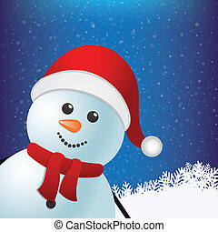 sneeuwpop, winterlandschap, besneeuwd