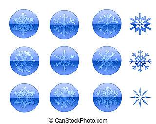 sneeuwvlok, iconen