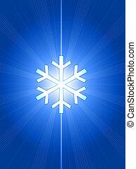 sneeuwvlok, illustratie