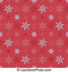 sneeuwvlok,  Vector, Kerstmis, achtergrond,  seamless