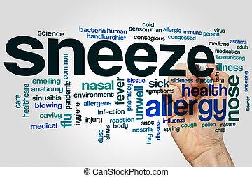 Sneeze word cloud