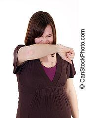 Sneezing Pregnant Mother