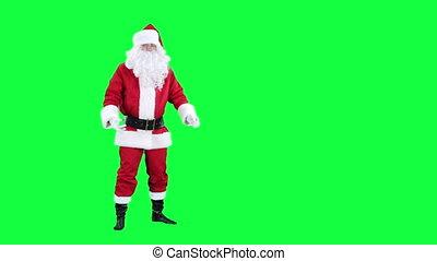 Sneezing Santa Claus chroma key
