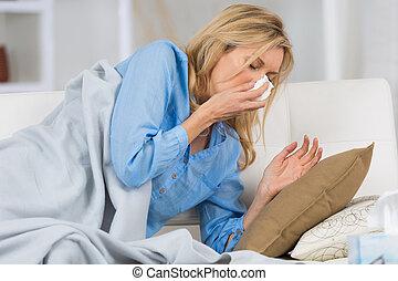 sneezing the virus