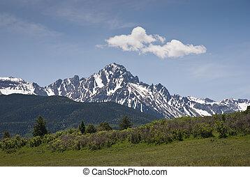 Sneffels - San Juan Mountains in western Colorado on a sunny...