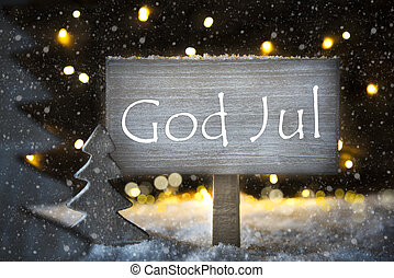 sneflager, betyder, gud, jul, træ christmas, merry, hvid...