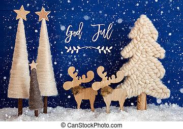 sneflager, jul, jul, sne, træ, jul, merry, elger, gud, ...