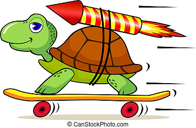 snel, schildpad