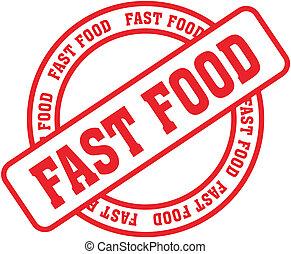 snel voedsel, woord, stamp8