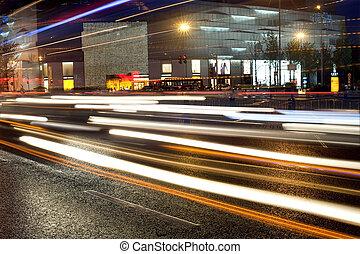 snel, wegen, voertuigen, stedelijke