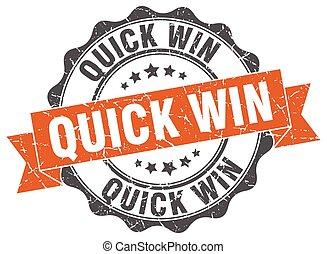 snel, winnen, teken., stamp., zeehondje