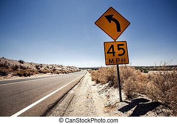 snelheid, arizona, limiet, meldingsbord