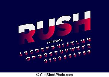 snelheid, lettertype, stijl