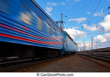 snelheid, trein, vertrek