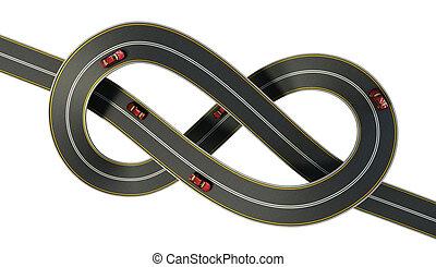 snelweg, gebonden, in, een, bungle