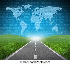 snelweg, internet