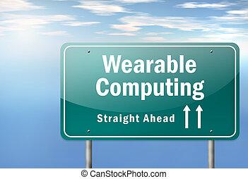 snelweg, wegwijzer, wearable, gegevensverwerking